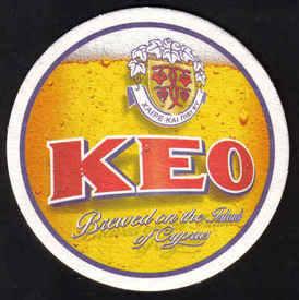 Cyprus Beermats Keo Brewery lager 2009 - UNUSED (z005a)