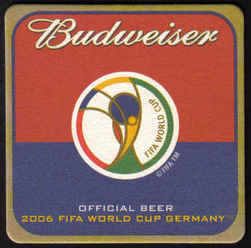USA Beermats Budweiser 2006 World Cup Football Germany - UNUSED (b470)