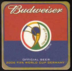 USA Beermats Budweiser 2006 World Cup Football Germany - UNUSED (b470)
