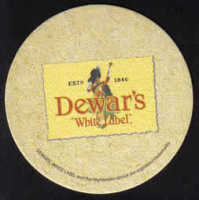 Scotland Beermats Dewar's White Label Whiskey - UNUSED (b471)