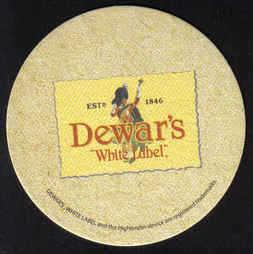 Scotland Beermats Dewar's White Label Whiskey - UNUSED (b471)