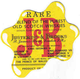 Scotland Beermats J&B Justerini & Brooks Whiskies - UNUSED (b474)