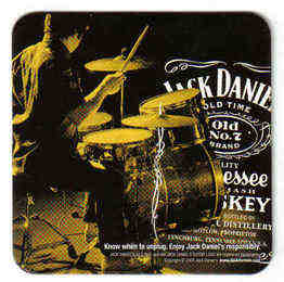 USA Beermats Jack Daniels Tennessee Whiskey - UNUSED (b476)