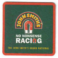 British Beermats John Smiths Horse racing - UNUSED (b477)
