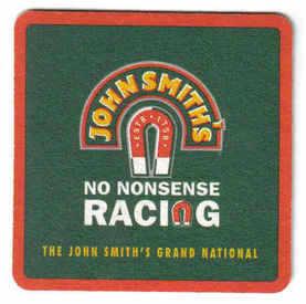 British Beermats John Smiths Horse racing - UNUSED (b477)