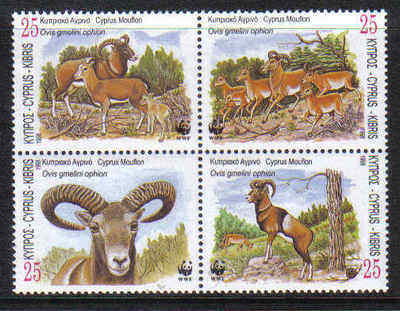 Cyprus Stamps SG 941-44 1998 World Wildlife Fund Mouflon - MINT