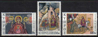 Cyprus Stamps SG 436-38 1974 Christmas - MINT