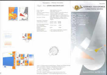 CYPRUS STAMPS LEAFLET 2003 Issue No: 2 - Europa Poster Art