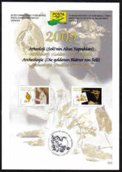 North Cyprus Stamps Leaflet 237 - 2009 Archeology Golden leaves of Soli