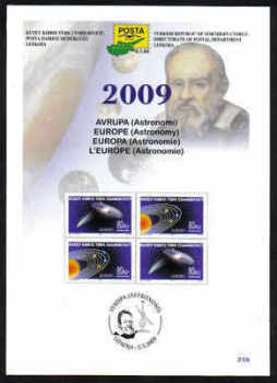 North Cyprus Stamps Leaflet 238 - 2009 Europa Astronomy