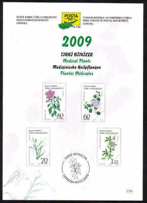 North Cyprus Stamps Leaflet 239 - 2009 Medical Plants
