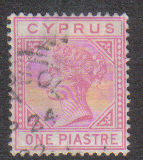 Cyprus Stamps SG 012 1881 One Piastre - USED (d215)