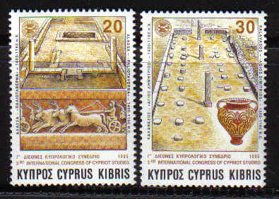 Cyprus Stamps SG 877-78 1995 Third congress of Cypriot studies - MINT