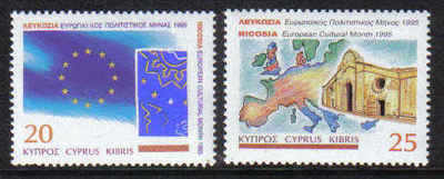 Cyprus Stamps SG 889-90 1995 European Cultural month - MINT