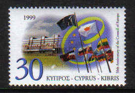 Cyprus Stamps SG 971 1999 Council of Europe - MINT