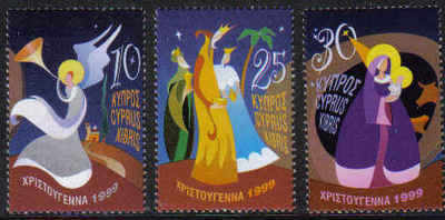 Cyprus Stamps SG 980-82 1999 Christmas - Mint
