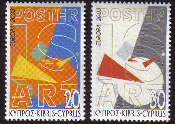Cyprus Stamps SG 1051-52 2003 Europa Poster Art - MINT