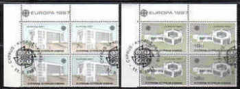 Cyprus Stamps SG 704-05 1987 Europa Modern Architecture - CTO USED  Block Of 4 (b563)