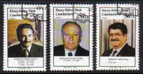 North Cyprus Stamps SG 233-35 1988 Turkish Prme ministers - USED (b630)