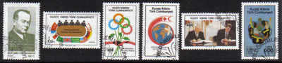 North Cyprus Stamps SG 240-45 1988 Anniversaries and Events - USED (b631)