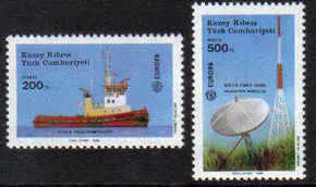North Cyprus Stamps SG 228-29 1988 Transport and Communications - MINT