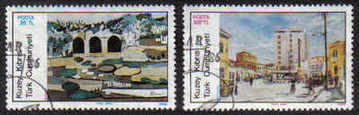 North Cyprus Stamps SG 185-86 1986 Art 5th Series - USED (b639)