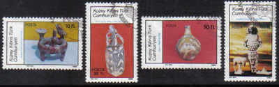 North Cyprus Stamps SG 189-92 1986 Archeological Artifacts - USED (b641)