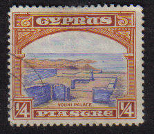 Cyprus Stamps SG 133 1934 1/4 Piastre - USED (b702)