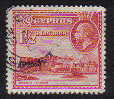 Cyprus Stamps SG 137 1934  1 1/2 Piastres - USED (b706)