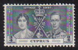 Cyprus Stamps SG 148 1937 Coronation 3/4 Piastre - USED (b682)