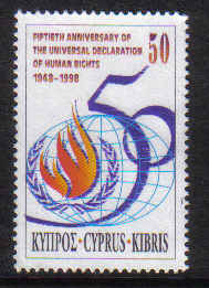 Cyprus Stamps SG 959 1998 Human Rights - MINT