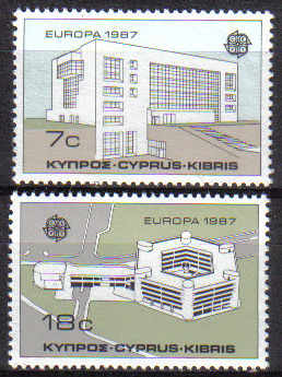 Cyprus Stamps SG 704-05 1987 Europa modern architecture - MINT