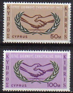 Cyprus Stamps SG 265-66 1965 International Co-operation year - MINT