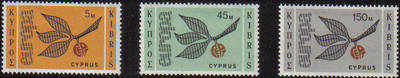 Cyprus Stamps SG 267-65 1965 Europa Sprig - MH