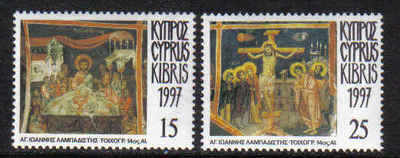 Cyprus Stamps SG 922-23 1997 Easter Passion of Christ - MINT
