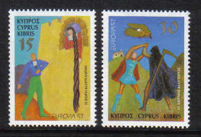 Cyprus Stamps SG 924-25 1997 Europa Tales and Legends - MINT