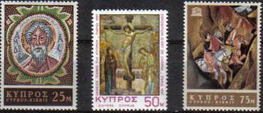 Cyprus Stamps SG 313-15 1967 Religious Art UNESCO - MLH