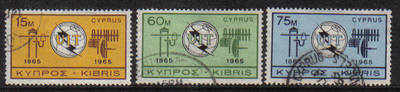 Cyprus Stamps SG 262-64 1965 ITU Centenary - USED (b051)