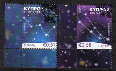 Cyprus Stamps SG 1188-89 2009 Astronomy Europa - USED (a872)