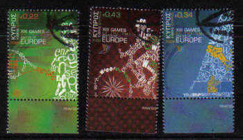 Cyprus Stamps SG 1190-92 2009 XIII Games of the Small States of Europe - USED (a928)