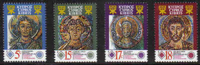 CYPRUS STAMPS SG 794-97 1991 MOSAICS KANAKARIA CHURCH - MINT