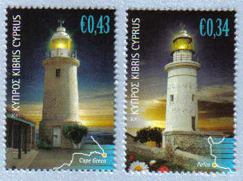 Cyprus Stamps SG 1248-49 2011 Lighthouses - MINT