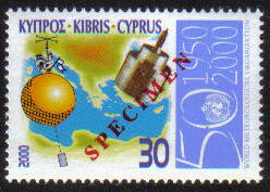 Cyprus Stamps SG 0999 2000 Meteorological Organisation - Specimen MINT