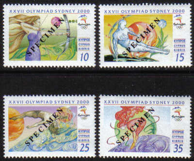 Cyprus Stamps SG 1005-08 2000 Sydney Olympic Games - Specimen MINT