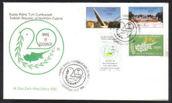 North Cyprus Stamps SG 376-79 1994 20th Anniversary of the Turkish landings - Official FDC