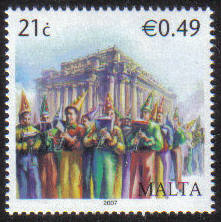 Malta Stamps SG 1571 2007 21c/49c Maltese Bands - MINT