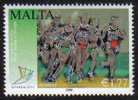 Malta Stamps SG 1626 2009 1.77c Cyprus XIII Small State Games of Europe - MINT