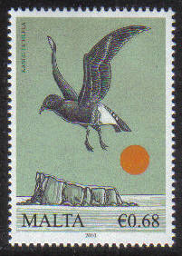 Malta Stamps SG 1671 2010 68c Biodiversity Storm petrel - MINT