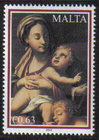 Malta Stamps SG 1680 2010 63c Christmas - MINT