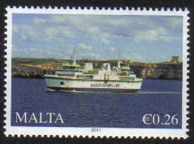Malta Stamps SG 2011 26c Ships - MINT